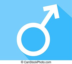 Male sex symbol, vector art illustration masculinity