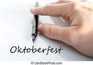 Oktoberfest text concept isolated over white background