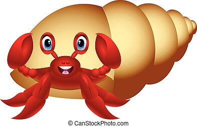 Hermit Crab cartoon - colourfull