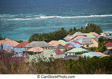 Coast in Saint Maarten Island, Dutch Antilles - Coast in...