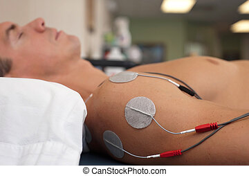 Shoulder Electrical Stimulation / TENS - Physical therapy or...