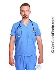 Smiling hospital doctor.