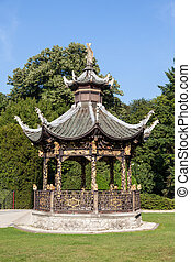 Chinese pavilion at the Museums of the Far East, Brussels -...