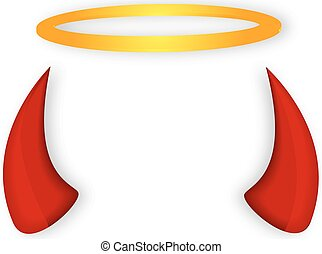 Angel and devil horns halo - Angels halo and devil horns,...