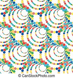 Bright colored circles on a white background seamless pattern vector illustration