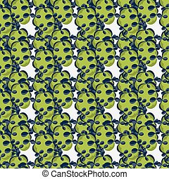 green abstract objects on a white background seamless pattern vector illustration