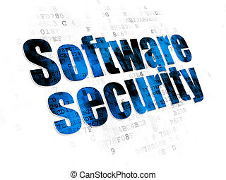 Security concept: Software Security on Digital background