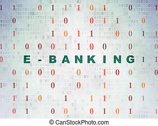 Finance concept: E-Banking on Digital Paper background -...