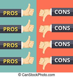 Pros and cons concept