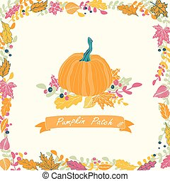 Pumpkin patch card design.