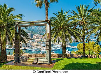 Monte Carlo Monaco Scenic View Through Art Frame Sculpture...