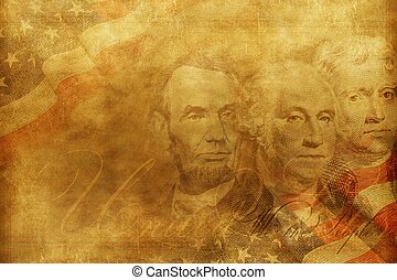 United States of America Presidents Background Illustration....