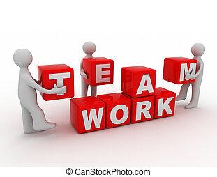 teamwork concept 3d