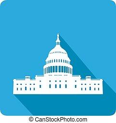 White house, vector illustration