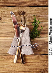 Bavarian hut with fork and knive for german cuisine concept.