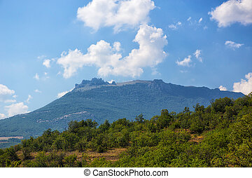 mountain Ah-Petri in the Crimea in the summer