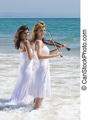 young violin players