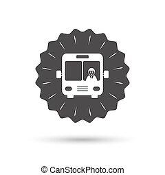 Bus sign icon Public transport symbol - Vintage emblem medal...