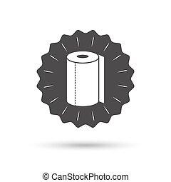 Paper towel sign icon. Kitchen roll symbol. - Vintage emblem...