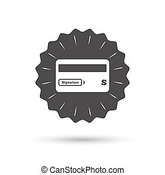 Credit card sign icon Debit card symbol - Vintage emblem...