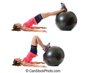 Stability Ball Exercise - Stability ball exercise Studio...