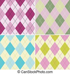 colorful argyle pattern seamless pattern fabric texture yeni.eps