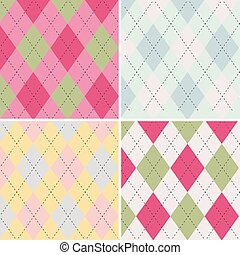 Colorful argyle seamless pattern