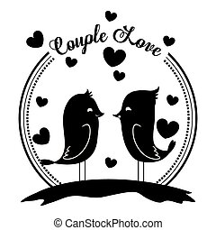 Love design - love concept with heart and cartoon bird...