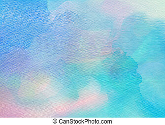 Abstract colorful watercolor background Digital art painting...
