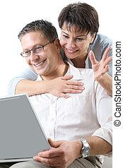 couple on laptop