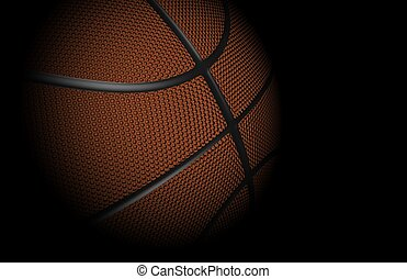 Basketball - High resolution, highly detailed 3D render of a...