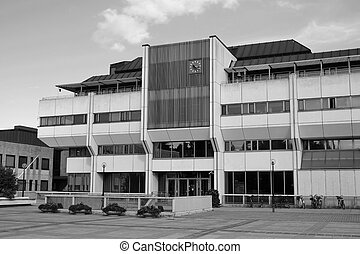 The modern city hall building in Lappeenranta - The modern...