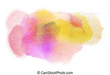 Abstract watercolor splash. Watercolor drop. Digital...