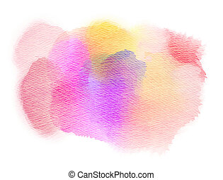 Abstract watercolor splash. Watercolor drop. Digital...