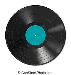 Vinyl record - Vector illustration of a vinyl record with...