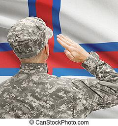 serie, nacional, -, entretela, soldado, bandera, islas,...