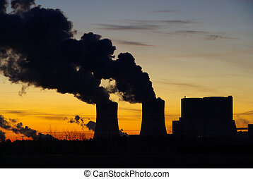 Schwarze Pumpe power plant sunset 06