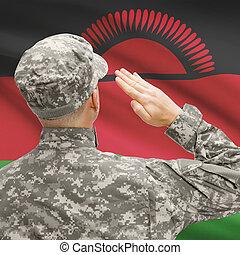 serie, nacional, -, entretela, soldado, bandera, sombrero,...