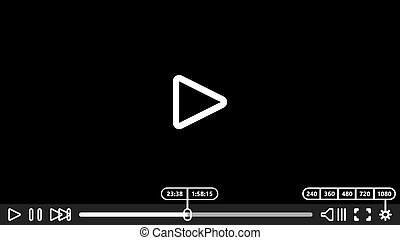 Video player for web and mobile apps Vector illustration...