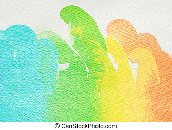 Abstract colorful watercolor for background Digital painting...