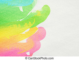 Abstract colorful watercolor for background. Digital...