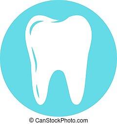 Vector tooth logo for dental company