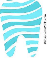 Vector dental logo design. Dentist logo.  Tooth vector icon