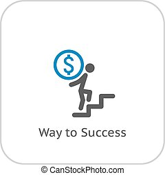 Way to Success Icon.