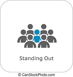 Standing Out Icon Business Concept Flat Design Isolated...