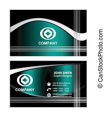Wave business cards template