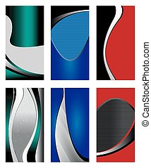 Collection banners modern wave