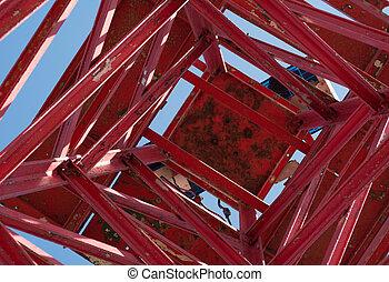 Faro rojo - Faro de hierro rojo