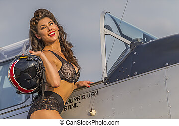 WWII Model and Airplane