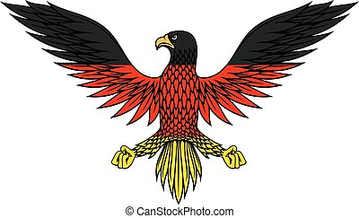 German eagle bird in flag colors - Stylized german eagle...